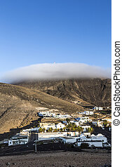 sunrise in the mountains in Femes, Lanzarote