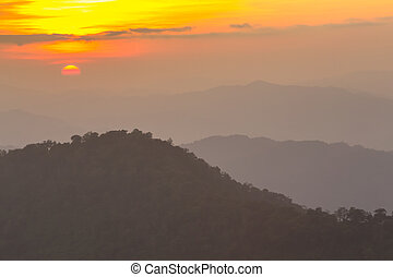 sunrise in the mountains landscape