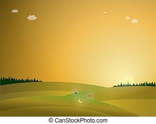 sunrise in the nature