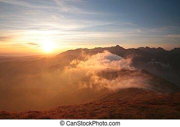 Sunrise in the Tatra mountains