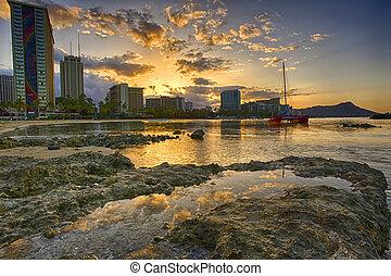 Sunrise in Waikiki