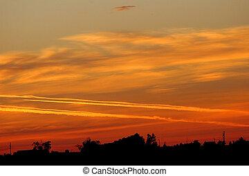 Sunrise Jet Trails