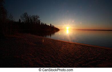 Sunrise Lake Winnipeg