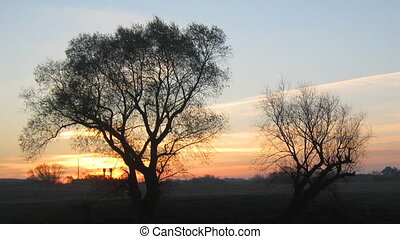 sunrise landscape with lake