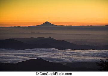 Sunrise, Mt. Jefferson, Willamette Valley