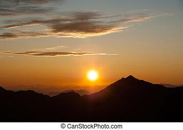Sunrise of the North Alps