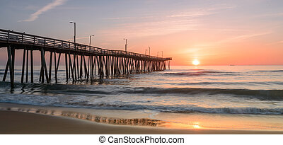 Sunrise off 14th st. Pier - Sunrise view next to the 14th...