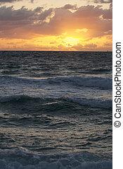 Sunrise on a beach in south east Florida.