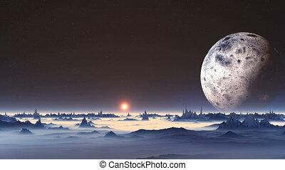 Sunrise on Alien Planet