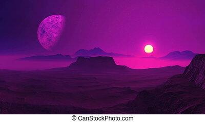 Sunrise On An Alien Planet