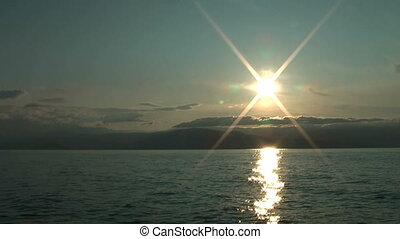 Sunrise on Baikal lake