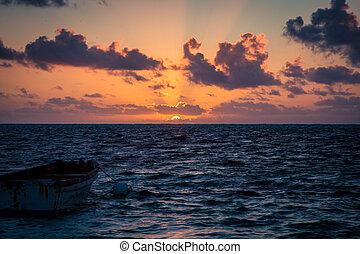 sunrise on Caribbean Sea