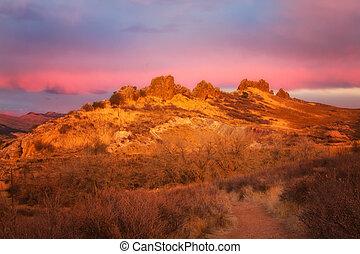 Sunrise on Devil's Backbone, Larimer County, Colorado