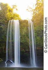 Sunrise On Misol Ha Waterfall Palenque