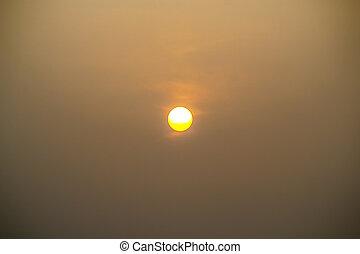Sunrise on morning