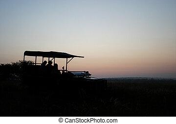sunrise on safari - sunrise on a hunting safari