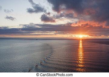 Sunrise on Ships Wake