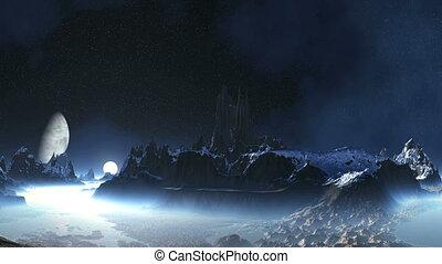 Sunrise on the Alien Planet