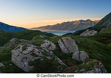 Sunrise on the Alps