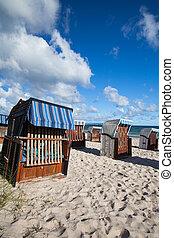 Morning on the beach in Binz, Ruegen Island, Germany