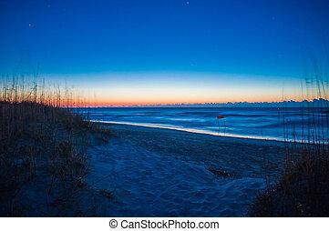 sunrise on the beach - sunrise at wrightsville beach