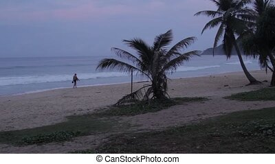 Sunrise on the beach - Thailand, Phuket, dawn on the beach...