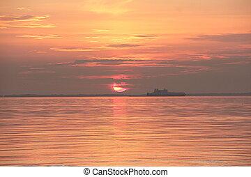 sunrise on the Gulf of Finland