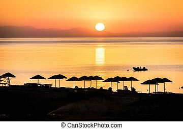 Sunrise on the island of Rhodes