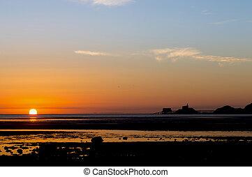 Sunrise on the Mumbles