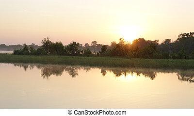 Sunrise on the Yellow River, Australia