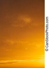Sunrise orange sky background. Twilight, dawn cloudy sky