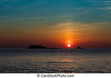 Sunrise Orange Sky Vietnam