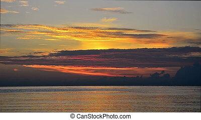 sunrise over an ocean in Bali