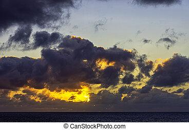Sunrise over Atlantic Ocean - Lanzarote, Canary Islands, Spain