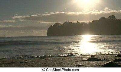 Sunrise over beach