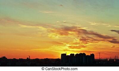 Sunrise Over City, Timelapse