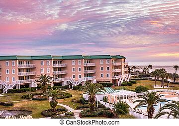 Sunrise Over Coastal Condos