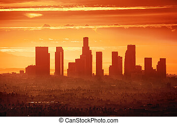 Los Angeles - Sunrise over downtown Los Angeles
