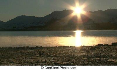 Sunrise over lake Tekapo 2