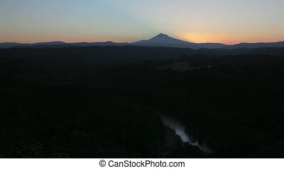 Sunrise over Mount Hood Timelapse