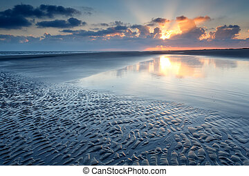sunrise over North sea coast