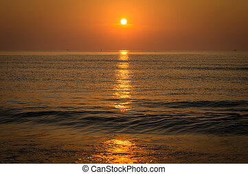 Sunrise over ocean, Nature composition.