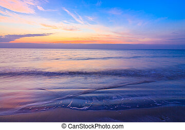 Sunrise over ocean,Thailand.