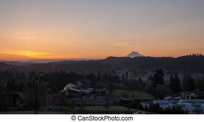 Sunrise over Oregon Cascade Range