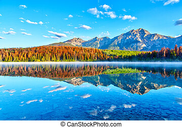 Sunrise Over Patricia Lake in Jasper National Park