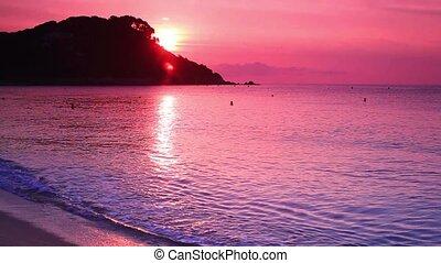 Sunrise over sea.