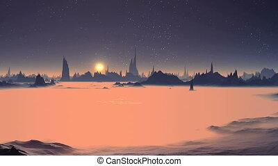 Sunrise over the Foggy Planet