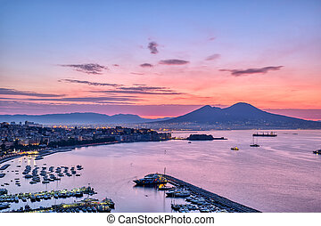 Sunrise over the Gulf of Naples