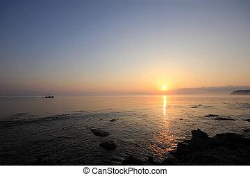 Sunrise over the Ionian sea