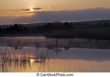 Sunrise over the lake